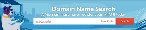 Search for your domain